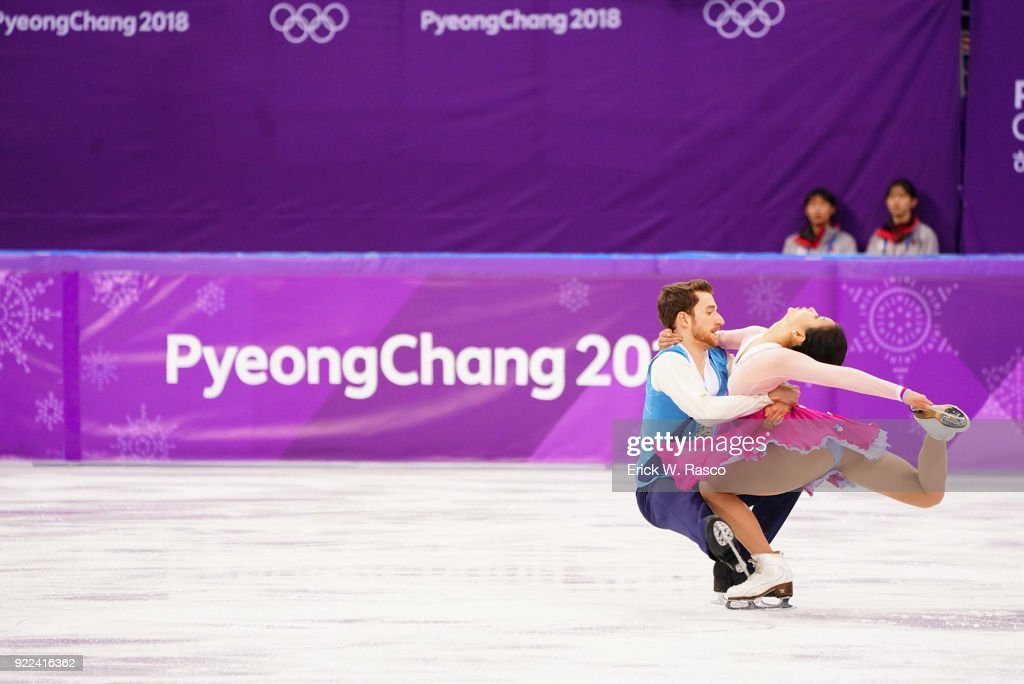 South Korea Yura Min and Alexander Gamelin in action during Ice Dance Free Dance at Gangneung Ice Arena. Erick W. Rasco X161686 TK1 )