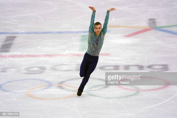 Winter Olympics: USA Adam Rippon in action during Men's Single Free Skating Finals at Gangneung Ice Arena. Gangneung, South Korea 2/17/2018 CREDIT:...