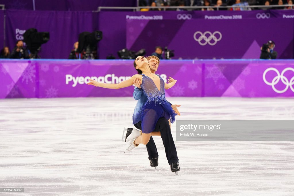 USA Madison Chock and Evan Bates in action during Ice Dance Free Dance at Gangneung Ice Arena. Erick W. Rasco X161686 TK1 )