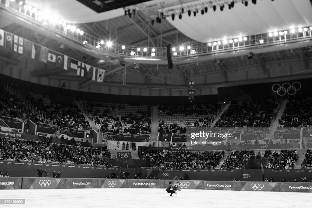 USA Maia Shibutani and Alex Shibutani in action during Ice Dance Free Dance at Gangneung Ice Arena. Shibutanis won bronze medal. Erick W. Rasco X161686 TK1 )