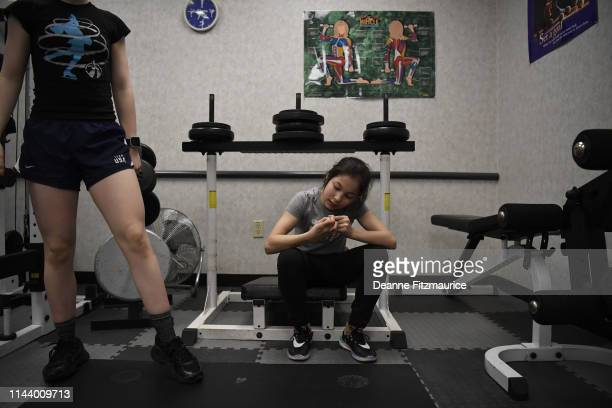 Alysa Liu during training session photo shoot A Day in the Life Oakland CA CREDIT Deanne Fitzmaurice