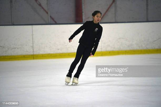Alysa Liu in action during practice session photo shoot A Day in the Life Oakland CA CREDIT Deanne Fitzmaurice