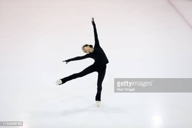 Alysa Liu in action during practice session photo shoot at Tom Graham Arena A Day in the Life Richmond Hill Ontario Canada 4/29/2019 CREDIT Rob...