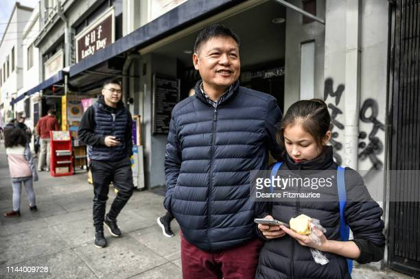 Alysa Liu with her father Arthur on way to practice session A Day in the Life Oakland CA CREDIT Deanne Fitzmaurice