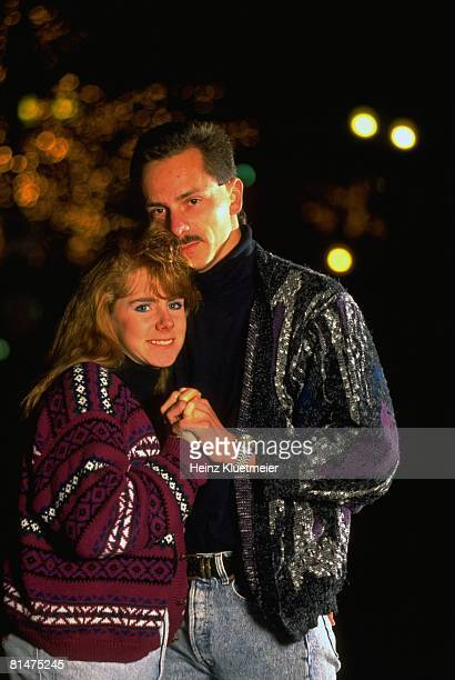 Figure Skating Casual portrait of Tonya Harding with husband Jeff Gillooly Portland OR