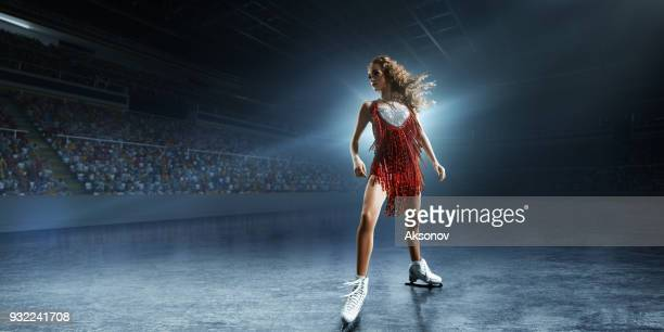 Figure skating. Female Ice skater