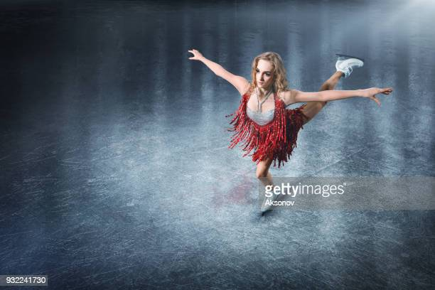 figure skating. female ice skater - figure skating stock pictures, royalty-free photos & images