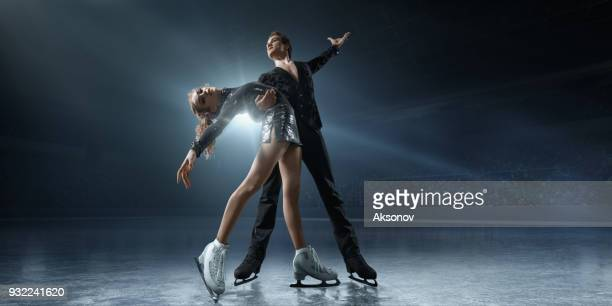 Figure skating. Ice skaters couple