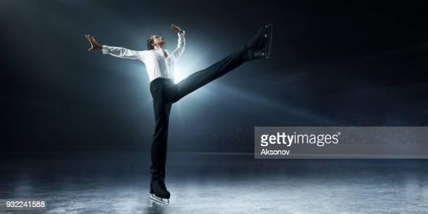 Figure skating. Male Ice skater