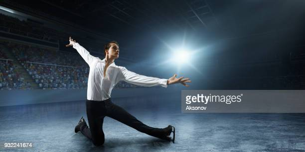 Figure skating. Male Ice skater