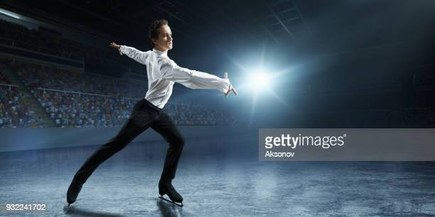 figure skating. male ice skater - figure skating stock pictures, royalty-free photos & images