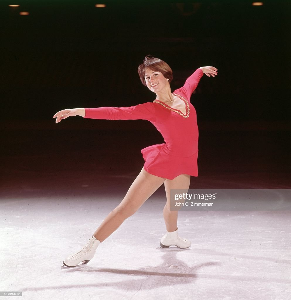 Portrait Of Dorothy Hamill On Ice Rink 1 1975
