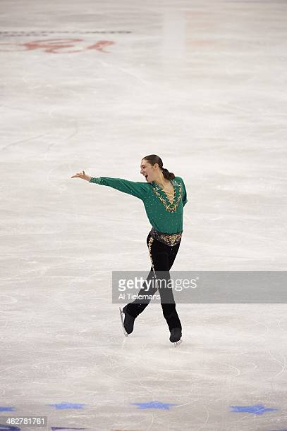 US Championships Jason Brown in action during Men's Free Skate program at TD Garden Brown places second Boston MA CREDIT Al Tielemans