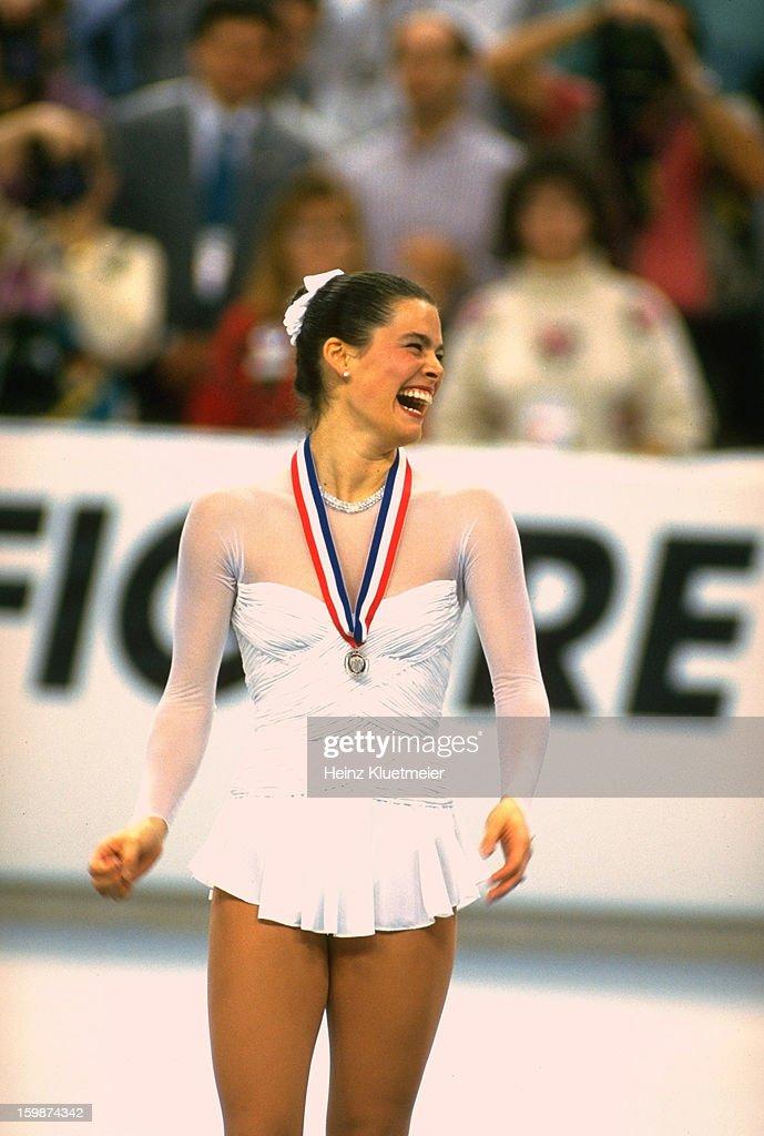 Nancy Kerrigan, 1992 US Figure Skating Championships : News Photo
