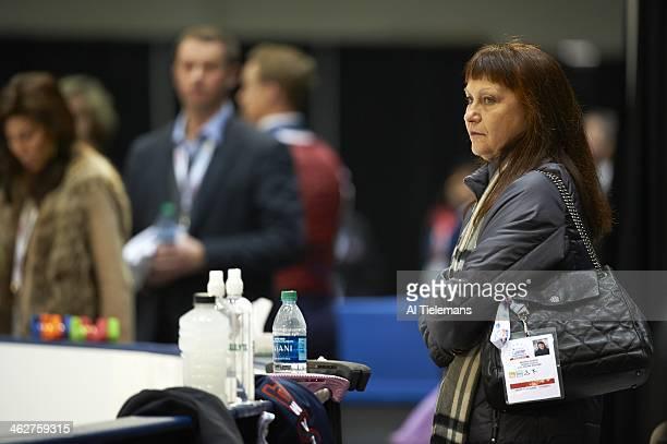 US Championships View of Marina Zoueva coach of Meryl Davis and Charlie White before Pairs Free Skate program at TD Garden Boston MA CREDIT Al...
