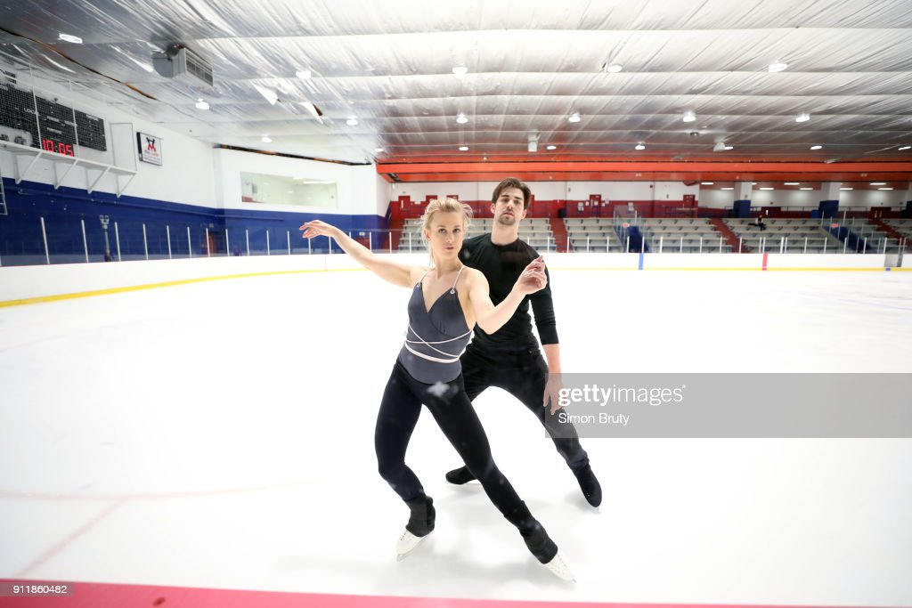 Usa madison hubbell and zachary donohue 2018 pyeongchang winter view of ice dancers madison hubbell and zachary donohue in action during practice session at centre voltagebd Gallery