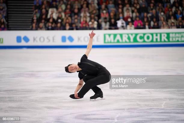 World Championships Canada Patrick Chan in action during Men's Short Program at Hartwall Arena Helsinki Finland 3/30/2017 CREDIT Bob Martin