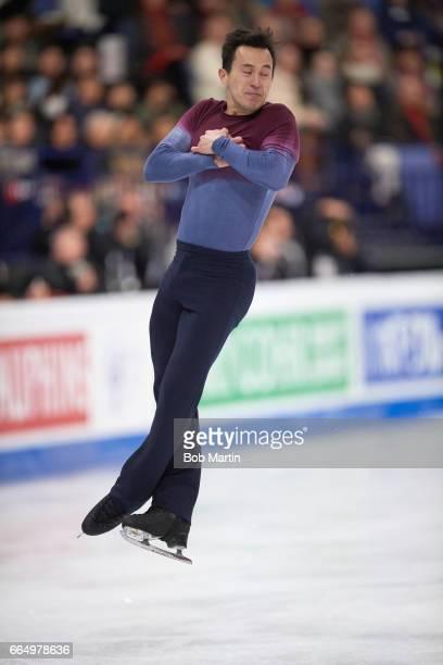 World Championships Canada Patrick Chan in action during Men's Free Skate at Hartwall Arena Helsinki Finland 4/1/2017 CREDIT Bob Martin