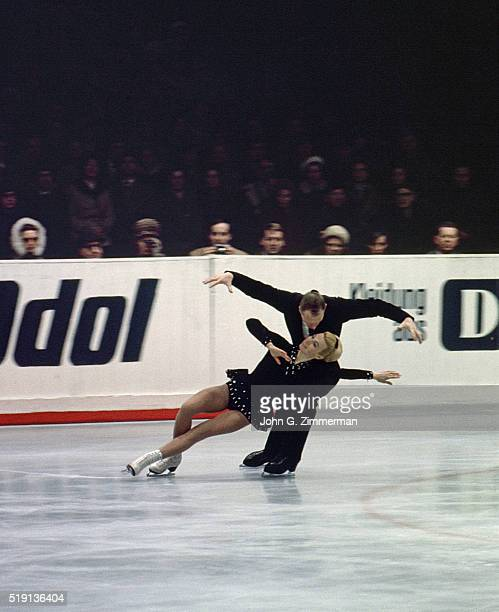World Championships Soviet Union Ludmila Belousova and Oleg Protopopov in action during pairs competition at Wiener Eislaufverein Belousova and...