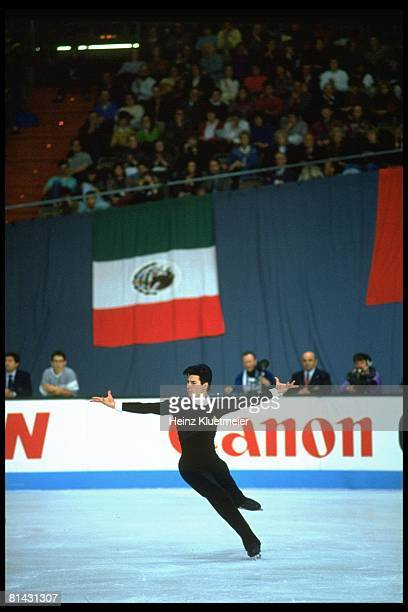 Figure Skating World Championships USA Christopher Bowman in action during competition at Olympia Eisstadion Munich Germany 3/17/1991