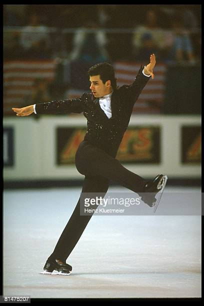 Figure Skating World Championships USA Christopher Bowman in action during competition at OaklandAlameda County Coliseum Arena Oakland CA 3/27/1992