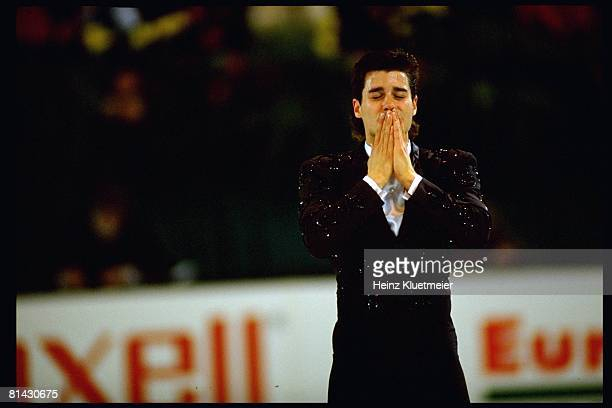 Figure Skating World Championships USA Christopher Bowman on ice during competition at OaklandAlameda County Coliseum Arena Oakland CA 3/27/1992