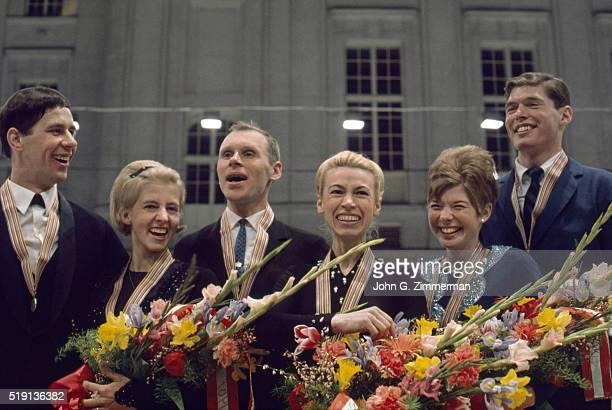 World Championships West Germany Wolfgang Danne and Margot Glockshuber Soviet Union Oleg Protopopov and Ludmila Belousova and Cynthia and Ronald...