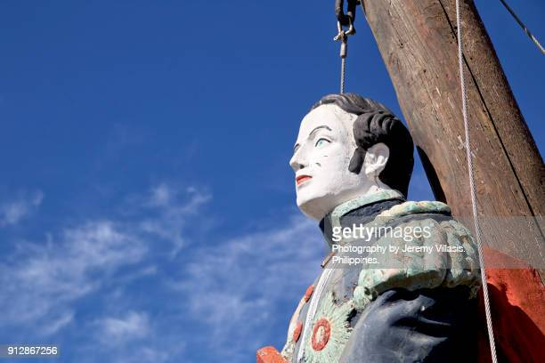 Figurehead from an old rigged sailing ship, Table Bay Harbour, Cape Town