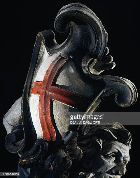 Figurehead of a Genoese galley Italy 18th century Detail of coat of arms of the city Venice Museo Storico Navale