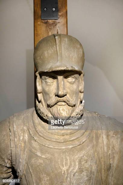 A figurehead of the Juan de Austria depicting Don Juan de Austria illegitimate son of the Emperor Charles V of Habsburg who at the command of the...