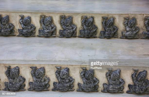 Figures adorn the Nagadipa Vihara on Nainativu Island in the Jaffna region of Sri Lanka