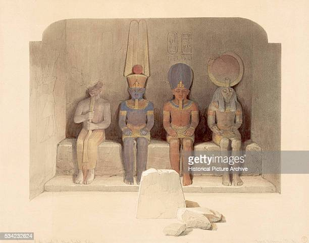 Figures in the sanctuary of the Temple of Abu Simbel