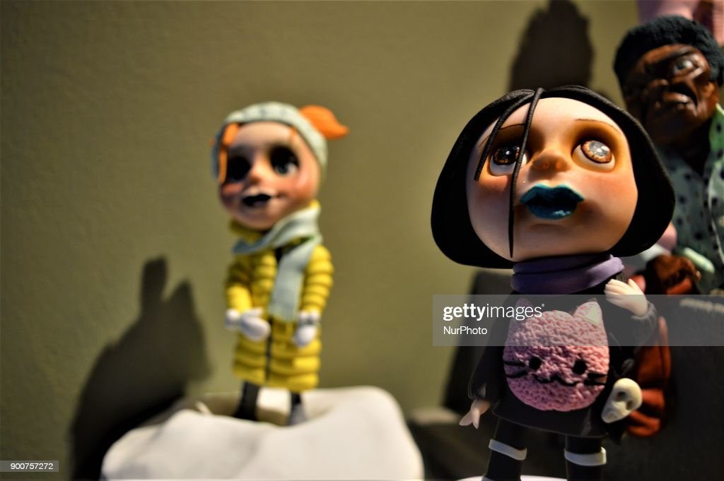 Figures made from sugar paste are displayed at Ayca Duman Kaleli's cake design workshop in Ankara, Turkey on January 3, 2018. Multi-award-winning Turkish sugar artist Kaleli designs different kinds of characteristic figures in her workshop, while her family has been carrying on a pastry shop for five generations.
