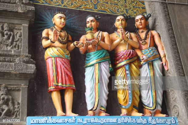 Figures of Hindu sages adorn the Nataraja Temple in Chidambaram Tamil Nadu India The Chidambaram Nataraja temple or Thillai Nataraja temple is a...