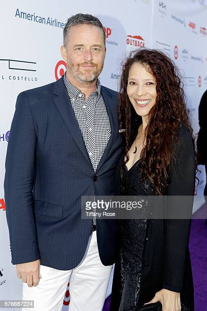 Figureskater Tai Babilonia and guest attend HollyRod Foundation's DesignCare Gala on July 16 2016 in Pacific Palisades California