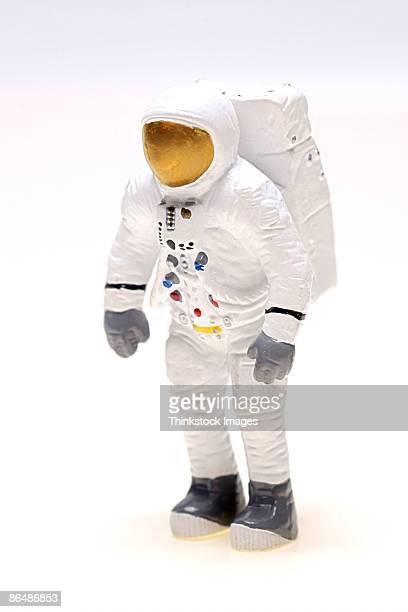 figurine of astronaut - menschliche darstellung stock-fotos und bilder