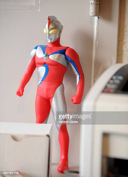 Figurine of Ultraman is one of the knick knacks found in Pulitzer Prize writer Junot Diaz's office. He was photographed at his MIT office on...