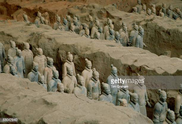Figurines in the Museum of the Qin Terracotta Warriors the mausoleum of Qin Shi Huangemperor of China Xian Shaanxi Province Northwest China...