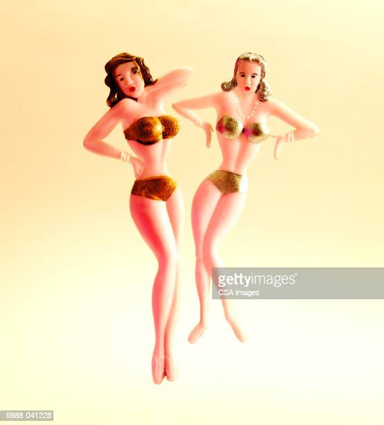 Figurines of Women in Bikinis