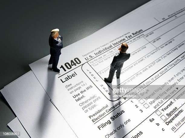 Figurines on Tax Form