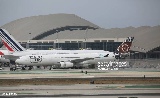 Fiji Airways A330 at Bradley International Terminal at Los Angeles International Airport on June 28 2017 in Los Angeles California