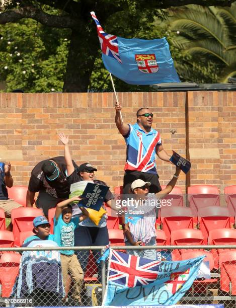 Fiji fans cheer a try during the NRC Semi Final match between Queensland Country and Fijian Drua at Clive Berghofer Stadium on November 5 2017 in...