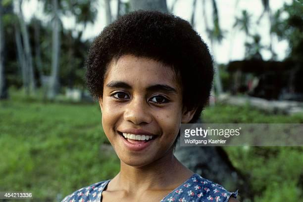 Fiji Islandsviti Levu Island Fijian Girl Portrait