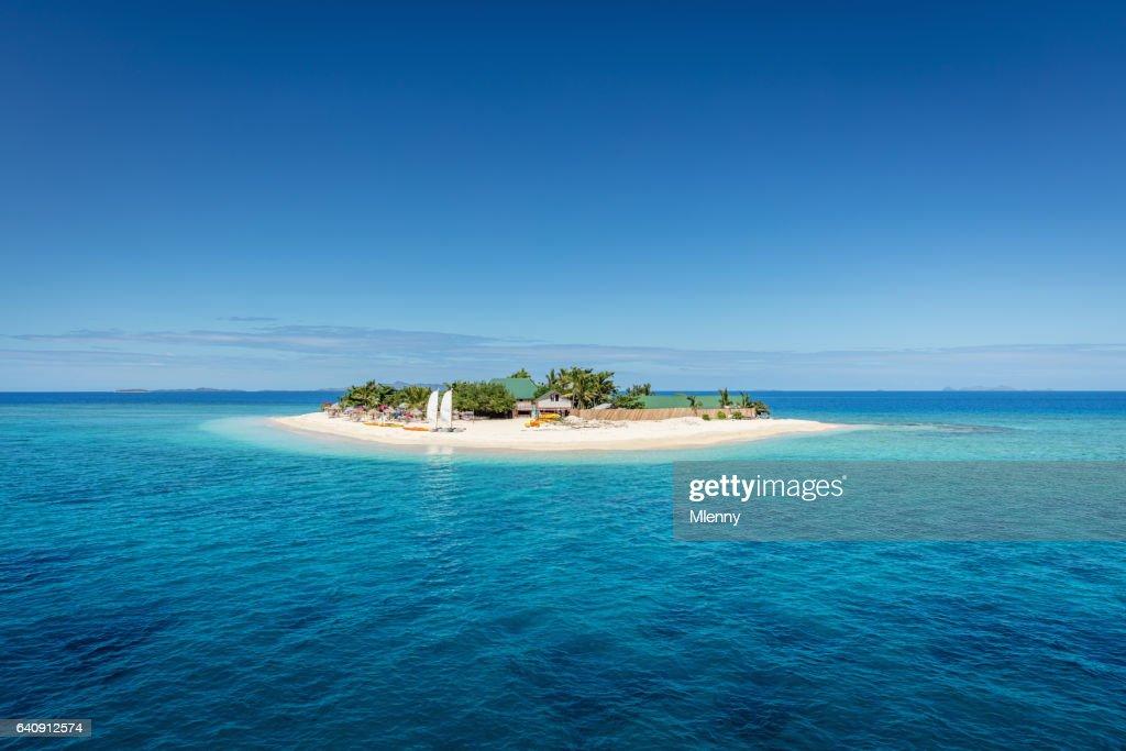 Mooie kleine eilandje van Fiji Mamanuca-eilanden : Stockfoto