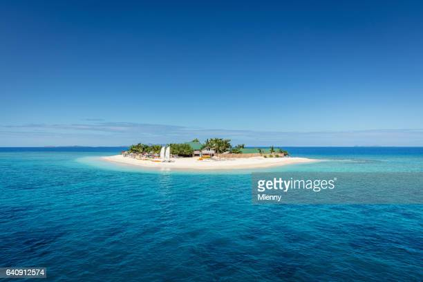 fiji mamanuca islands beautiful small islet - island stock pictures, royalty-free photos & images