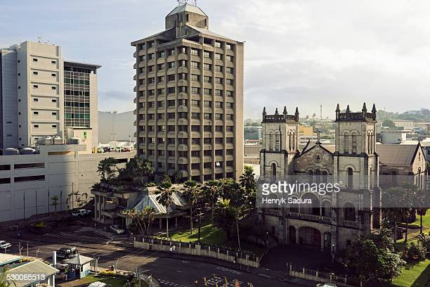 fiji, suva, sacred heart cathedral - fiji stock pictures, royalty-free photos & images
