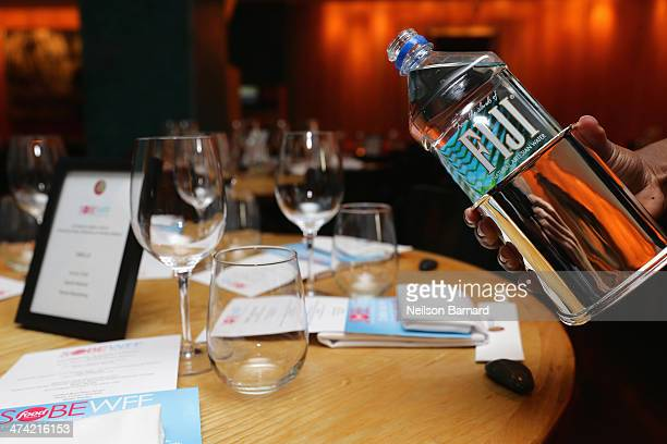 Fiji water at Ultimate Asian Lunch Hosted By Nobu Matsuhisa Hiroko Shimbo during the Food Network South Beach Wine Food Festival at Nobu Miami Beach...
