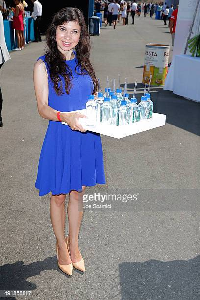 Fiji Water Brand Ambassadors attend FIJI Water at Super Saturday Los Angeles CoHosted By Rachel Zoe And Molly Sims at Barker Hangar on May 17 2014 in...