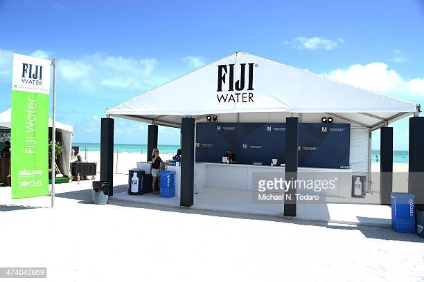Fiji Water display at Wine Spectator's Trade Day during Food Network South Beach Wine Food Festival at Grand Tasting Village on February 21 2014 in...