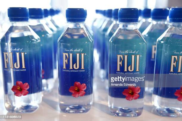Fiji Water is displayed during the 2019 Film Independent Spirit Awards after party on February 23 2019 in Santa Monica California
